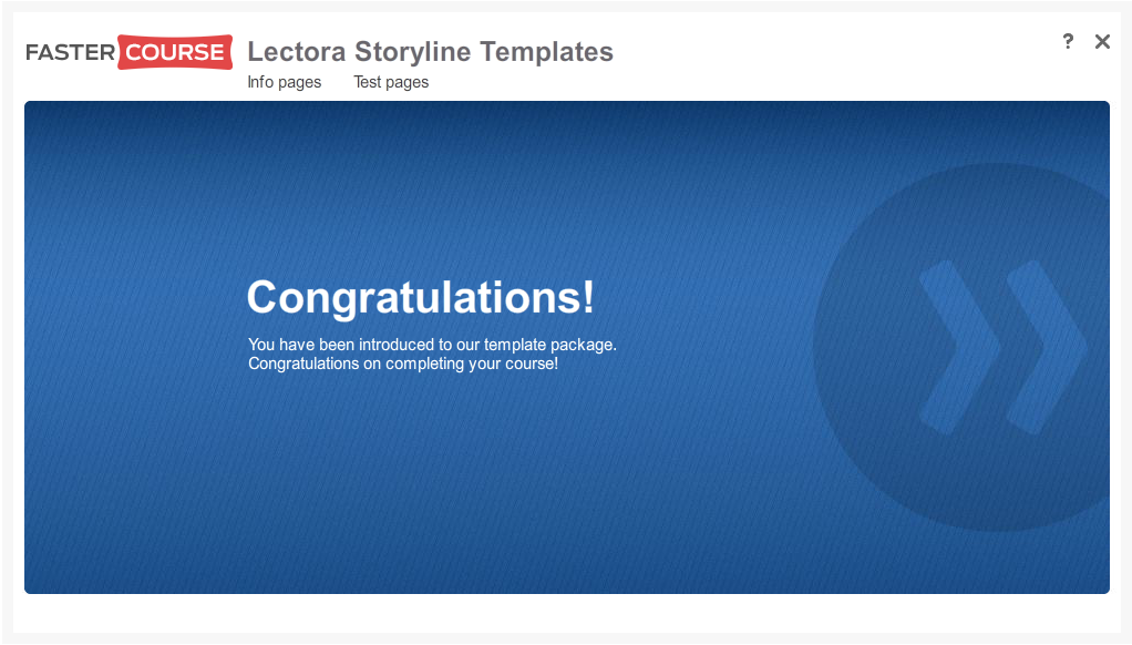 Articulate Storyline Free Guide Congratulations Preview
