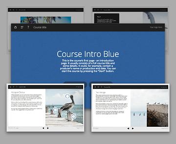 Lectora template set - Oceanside Blue