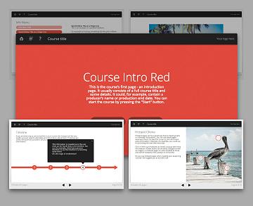 Lectora template set - Oceanside Red