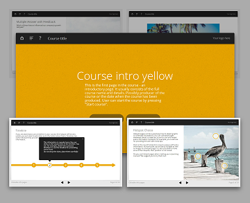 Lectora template set - Oceanside Yellow