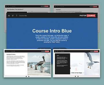 Articulate Storyline templates Oceanside Blue