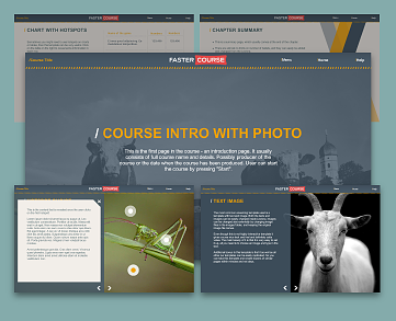 Articulate Storyline template set - Countryside, Articulate storyline templates