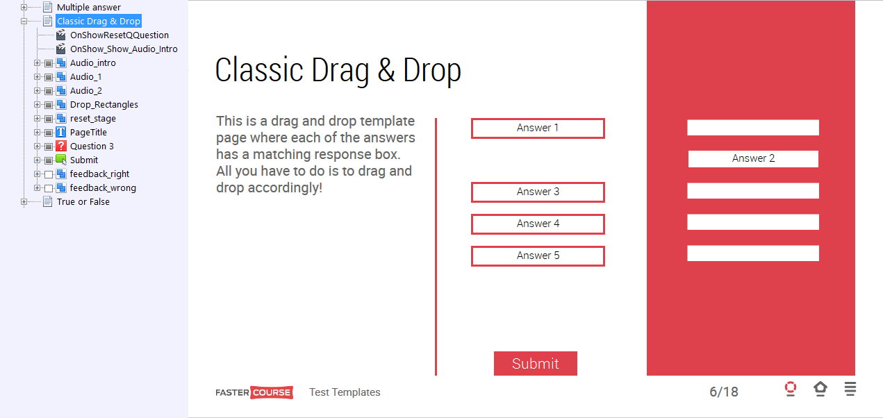 Test template guide lectora templates fastercourse for Weebly drag and drop templates