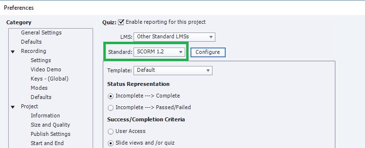 Captivate publish scorm 3