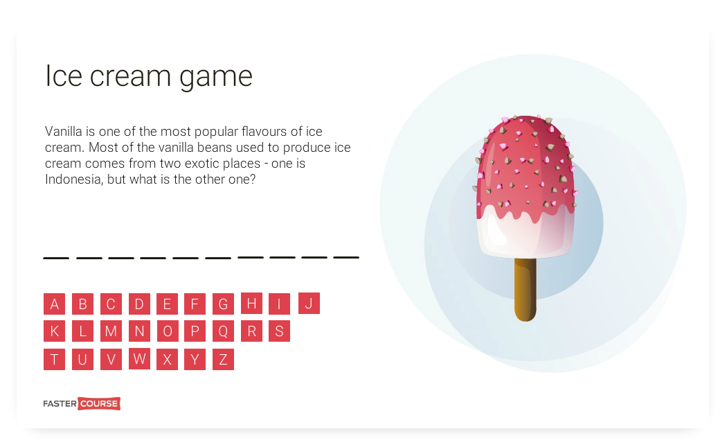 Free Articulate Storyline template - Ice Cream Game - FasterCourse