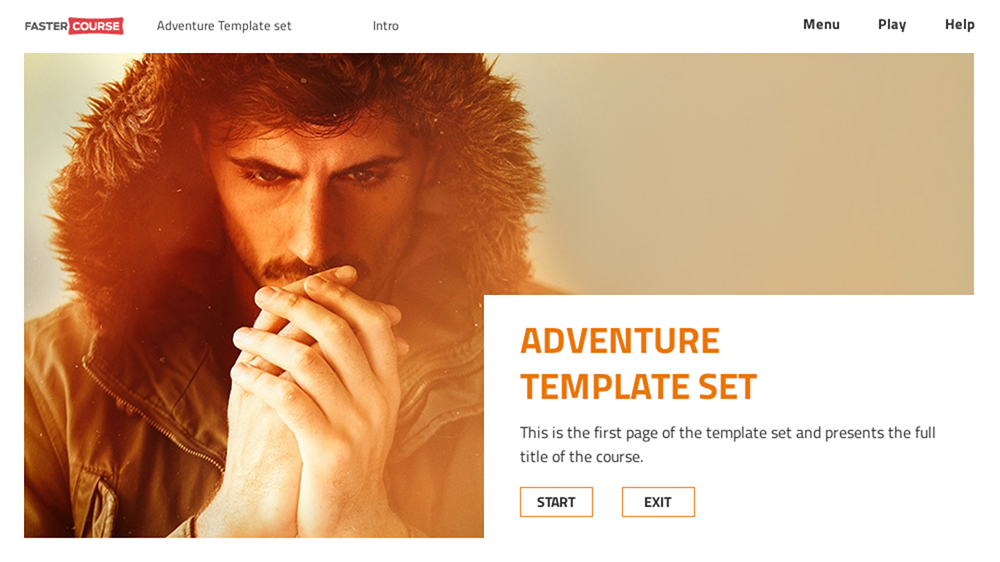 FasterCourse Adventure template set