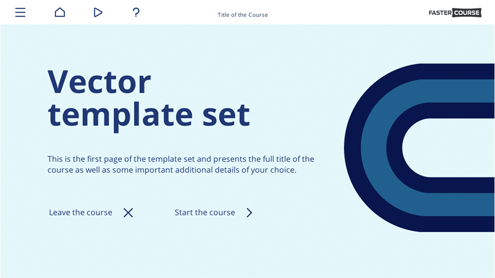 FasterCourse Vector template set