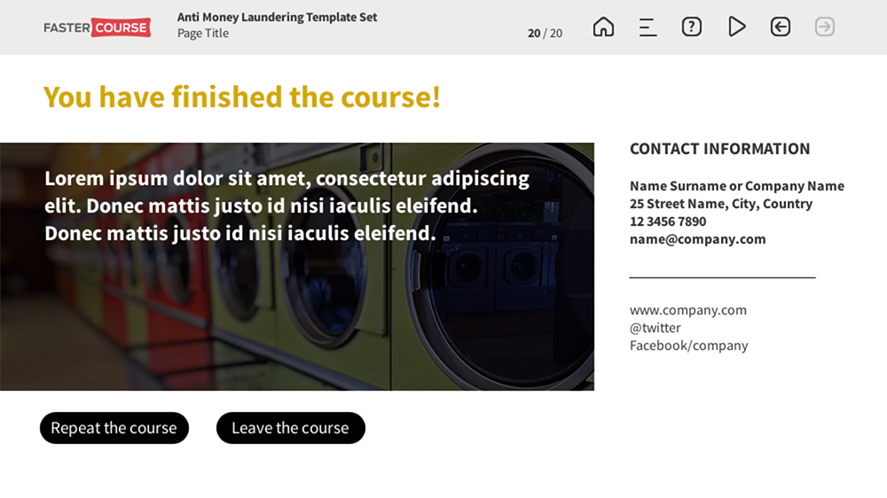 FasterCourse AML template set