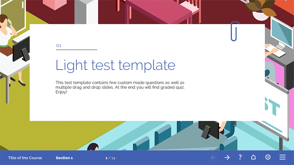 Creative elearning:various simple elearning templates