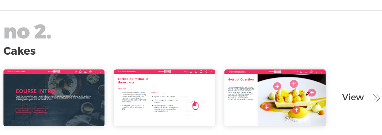 Top Elearning Templates FasterCourse_Lectora_Cales