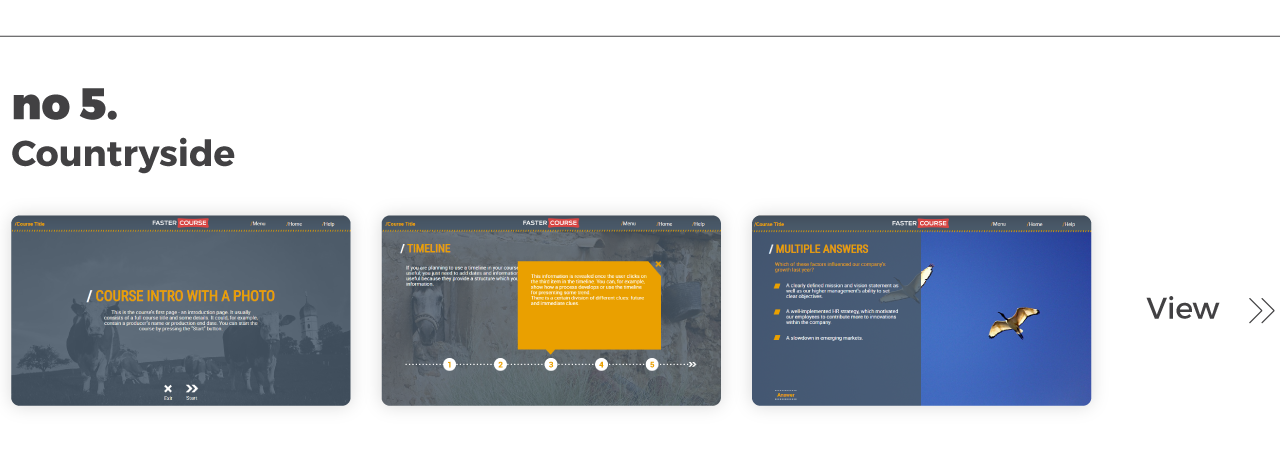 Top Elearning Templates FasterCourse_Lectora_Countryside