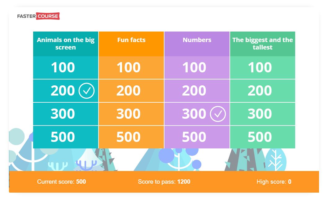 Free Zoo Trivia Game Template - E-learning Templates
