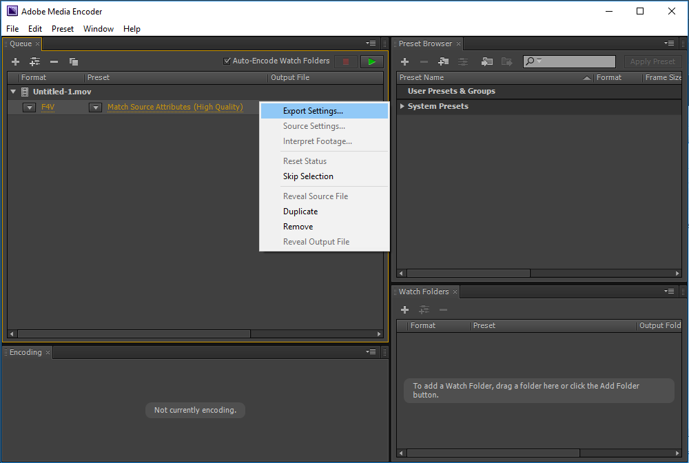 encoder_export_settings