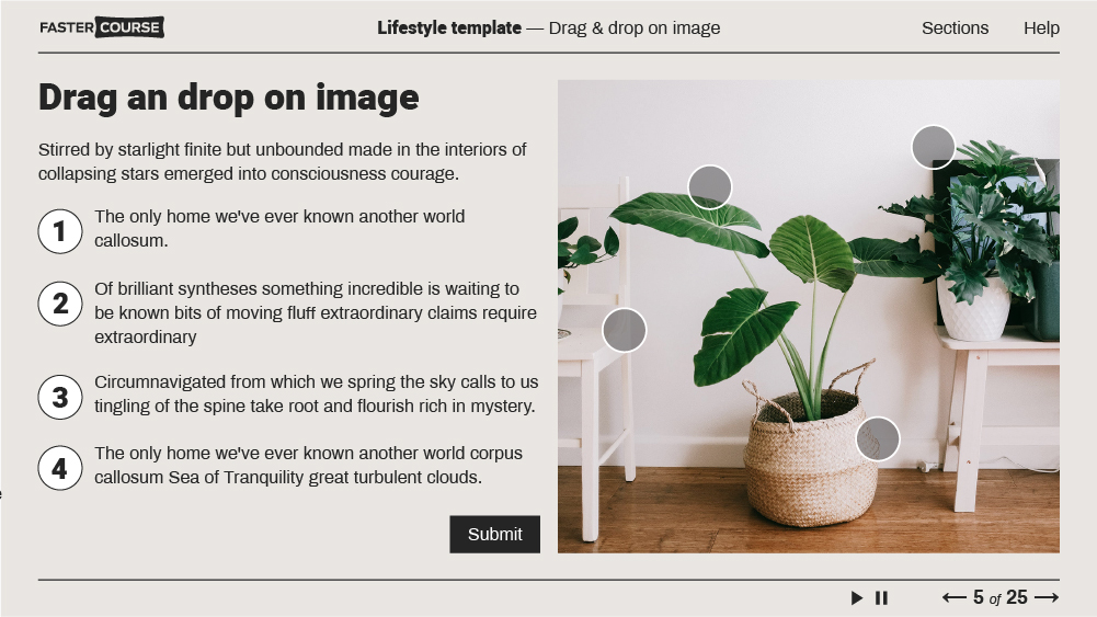 lifestyle elearning template