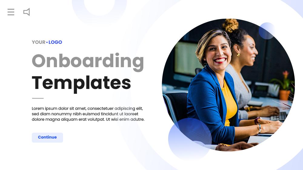 onboarding elearning template