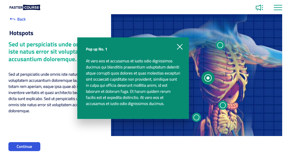 medical elearning template
