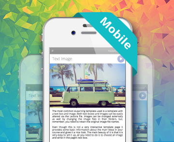 mobile e-learning templates