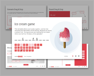 Interactive lectora e-learning test templates