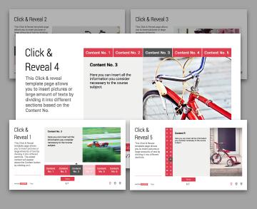 Click & Reveal Lectora templates