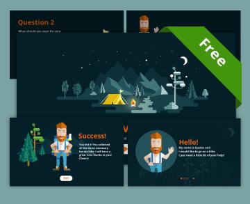 free storyline templage - Gustav's trip storyline game template