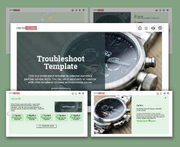 troubleshoot captivate template