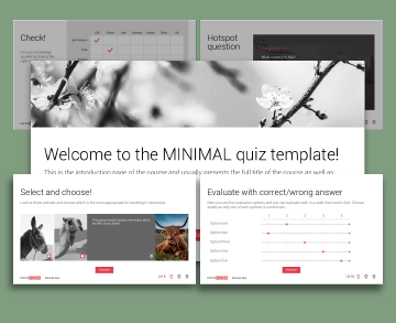 Captivate Minimal Quiz templates
