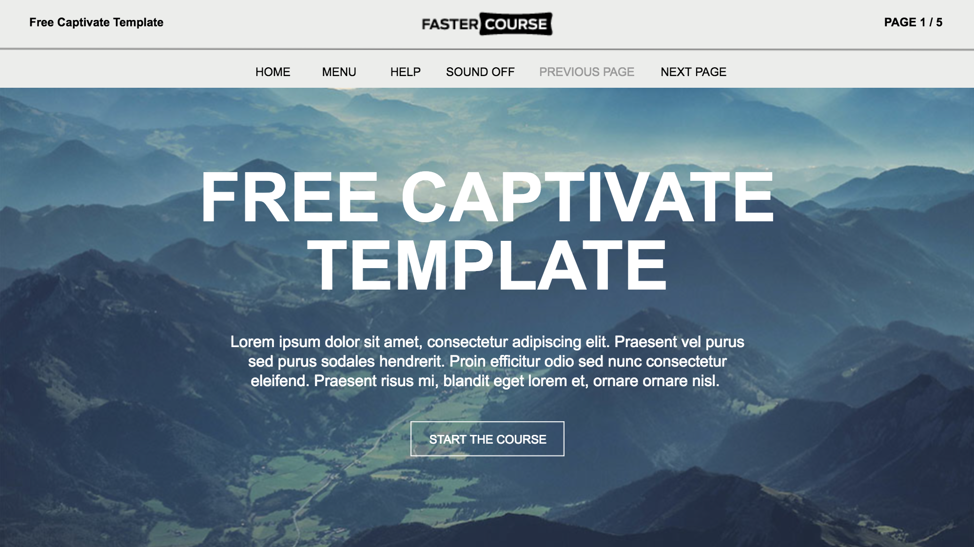 adobe captivate responsive template mountains contains 7 templates e learning templates