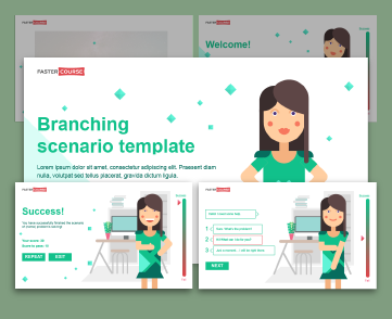 branching captivate template