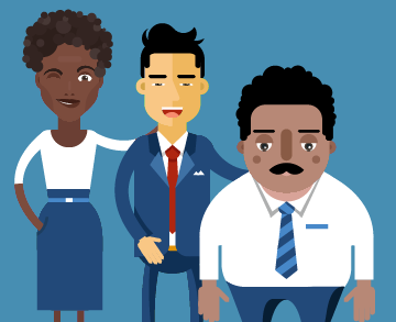 free office characters