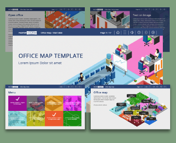 Office Map Captivate template