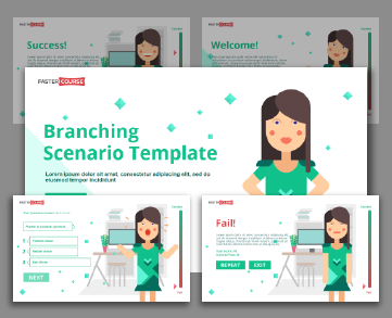 Lectora branching template