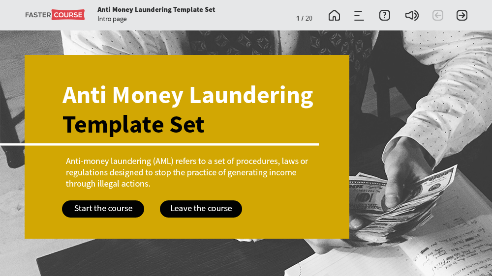 Adobe captivate templates aml contains 23 templates for Anti money laundering program template