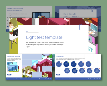 Captivate test templates light