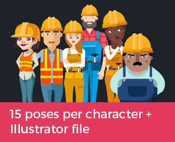 construction work characters