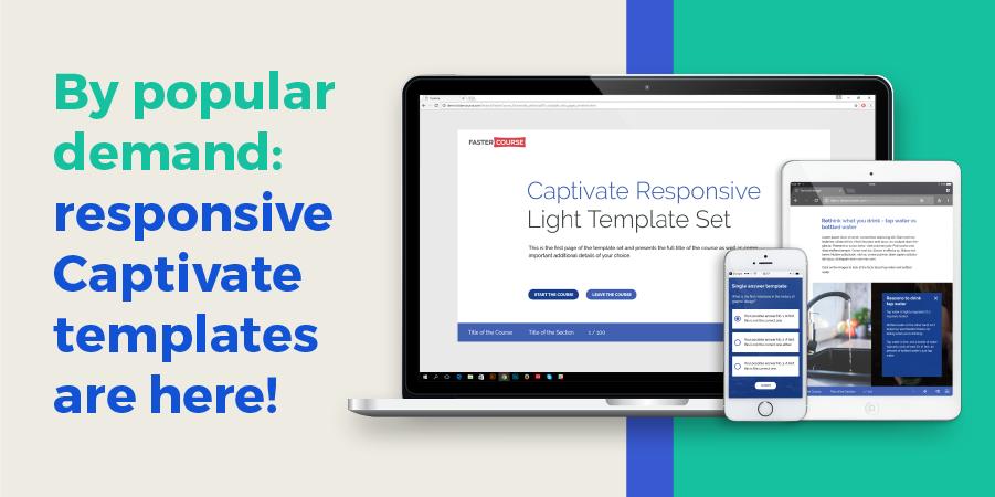 Captivate Templates | Adobe Captivate Responsive Templates Light Contains 23 Templates