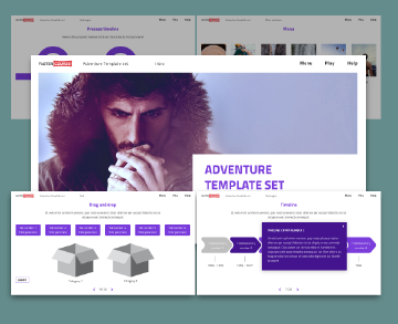 storyline adventure template purple