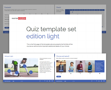 light quiz lectora template